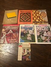 Vintage Sewing Knitting Ribbonpoint Books Pamphlets Magazine Lot of 7