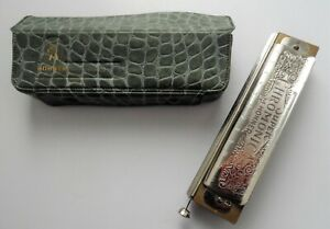 GERMAN MADE M HOHNER SUPER CHROMONICA 270 CHROMATIC HARMONICA IN G WITH CASE