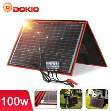 100W 12V Portable Solar Panel Kit With USB For Phone/Solar Generator/Camping/RV