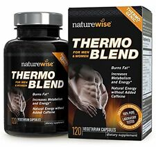 NatureWise Thermo Blend Thermogenic Fat Burner for Weight Loss, 120 Capsules NEW