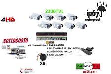 KIT VIDEOSORVEGLIANZA AHD DVR ICLOUD 8 CANALI + 8 TELECAMERE 2300TVL INFRAROSSI