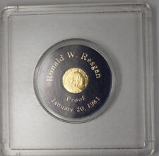 President Ronald W Reagan January 21 1981 Proof Gold Capital Inaugural Medal