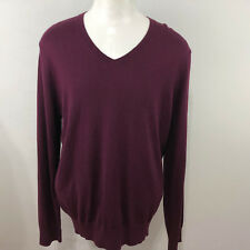BANANA REPUBLIC MEN'S  SILK/COTTON/CASHMERE V-NECK SWEATER SIZE LARGE