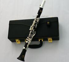 Concert Pro. Black Wood Eb Clarinet Silver Plated Key With Case