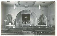 RPPC St Saint Mary's Catholic Church PAW PAW MI Michigan Real Photo Postcard