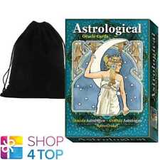 ASTROLOGICAL ORACLE CARDS DECK ESOTERIC TELLING LO SCARABEO WITH VELVET BAG NEW