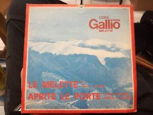 Choir Gallium Melette 2000 Record Vinyl 45 RPM Finco Gloder Mountain Chorus