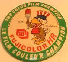 "Vintage 2"" Promo Button Pinback FUJI COLOR HR  Ancien Macaron COLOR FILM CHAMP"