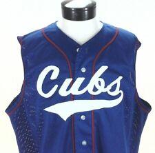 CHICAGO CUBS Jersey Mesh Baseball Shirt Wilson USA Vintage Sewn Blue Men's XXL