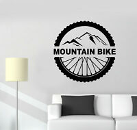 Vinyl Wall Decal Mountain Bike Extreme Sport Bicycle Wheel Stickers (g1883)