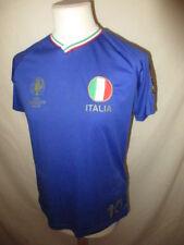 Maillot de football vintage équipe Italie Euro 2016 Bleu Taille M
