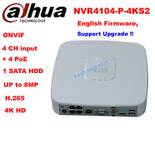Dahua english NVR4104-P-4KS2 4 Channel Smart Mini 1U 4POE Network Video Recorder