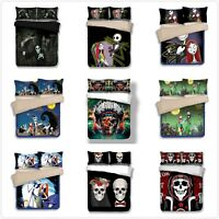 Halloween Pocket Duvet Cover Quilt Cover HD Print Double/King Size Bedding Set