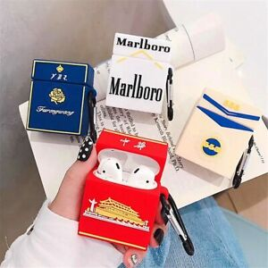 Cigarette Box Silicone Soft Case Cover For Apple AirPods 1 2 Pro