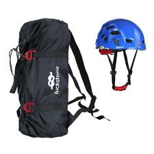 Folding Outdoor Climbing Abseiling Rope Cord Bag Ground Mat + Safety Helmet