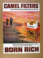 1966 Surf Fishermen fishing beach art Camel Cigarettes vintage print Ad