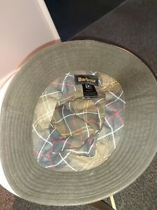 Mens Barbour Waxed Hat Size M