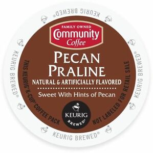 Community Coffee Pecan Praline Coffee 18 to 144 Keurig K cups Pick Any Size