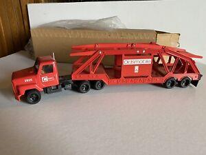 Ertl 1/25 Car Carrier Oldsmobile Cassens Transport Dealer Promo Red w/ Box