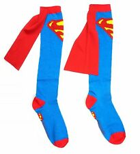 Men Women Superman Blue Costume cosplay Football Soccer Soccer Party Cape Socks