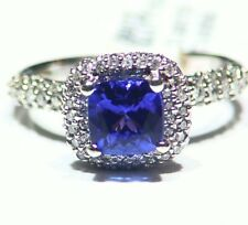 2.42CT 14K Gold Natural Tanzanite Diamond Vintage AAA Art Deco Engagement Ring