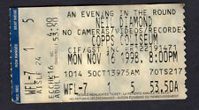 1998 Neil Diamond concert ticket stub Hamilton Ontario Longfellow Serenade