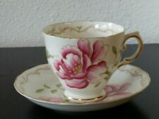Tuscan Fine China Pink Peony Tea Cup & Saucer Set - Made in England