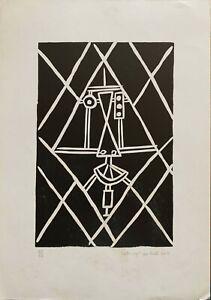Franco Caturegli da Buti xilografia numerata Volto C  50x35 firmata anno 1982