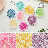 500Pcs Mini Resin Fake Pearl Round Loose Bead No Hole DIY Jewelry Making 2.5-5mm