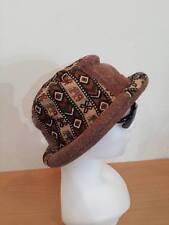 Hat Hippie BEANIE ROLL festival EGYPT Cap bucket Brown REGGAE RASTA elephant vtg