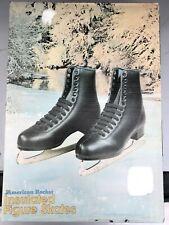 Vintage American Rocket Figure Skates Style 552 Mens Black Size 9 NEW in box