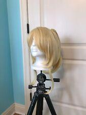 Anime Love Liv! Eli Ayase Cosplay Wig Blonde Bangs Ponytail Hair