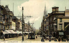 Southampton. High Street # 65 by LL / Levy. Coloured. Tram.