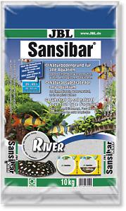 JBL Sansibar RIVER 10 Kg Heller- feiner Bodengrund mit schwarzen Steinchen