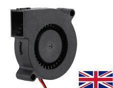 3D Printer 12V DC 50mm Blower Radial Cooling Fan open soldered ended