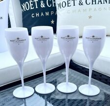 More details for moet & chandon white ice imperial acrylic champagne glasses flutes - set of 2