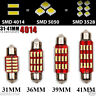 TOP A 31-41 mm 4014 SMD 12 LED Light Canbus Error Free Festoon Interior Bulb UK