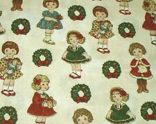 "ADORABLE! CHRISTMAS WINDHAM PAPER DOLLS - CREAM -  BTFQ - 18""X22"""