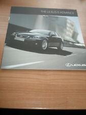 Lexus IS Advance brochure Sep 2011