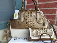Brahmin Hudson Satchel in Oak Primrose L31 974 00358