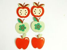 Mixed Apples Fruit Papercraft Embellishments Scrapbooking Card Making Crafts