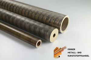Bronze Rotguss RG7 Rohr Rundrohr Durchmesser + Länge frei wählbar Buchse