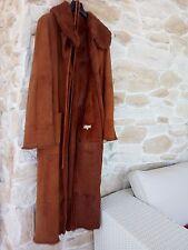 Cappotto donna montone pelle arancione calda pelliccia interna tg 44