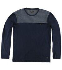 O'Neill Men Renegade Navy Blue Chest Pocket Long Sleeve Knit Shirt Sz Medium