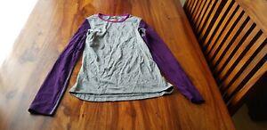 Icebreaker 200 Grey Womens Merino Wool Bodyfit Top Size Small VGC