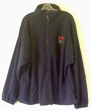 Usa Fleece Long Sleeve Xxl Navy Blue Zip Up Olympic Logo Made In Usa