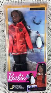 Barbie National Geographic Marine Biologist African American Doll with Penguin