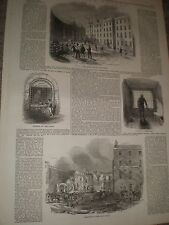 The Fleet prison London 1846 old prints and article