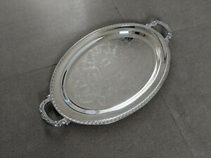 Oneida Silver Serving Tray With Handles