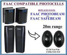 FAAC PHOTOBEAM, SAFEBEAM Universal Infrared Photocells 12-24V, N.C-COM-N.O (20m)